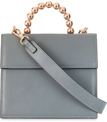 0711 bea satchel tote - grey