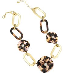trifari 14k gold-plated flower collar necklace