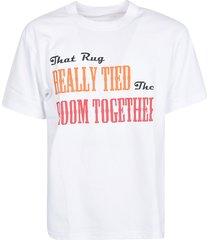 sacai front printed t-shirt