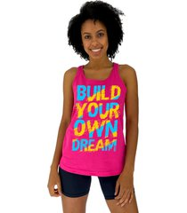 regata feminina alto conceito build your own rosa pink - rosa - feminino - algodã£o - dafiti