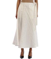 jil sander wheel skirt white