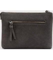 paula perforated handbag - light gray