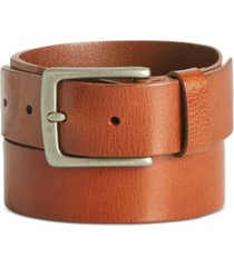 perry ellis men's tan leather belt
