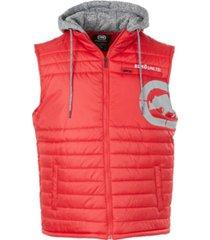 ecko unltd men's diamond quilted hooded vest