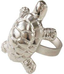 saro lifestyle turtle dinner napkin ring, set of 4