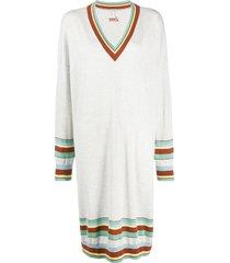 loewe striped detail jumper dress - neutrals