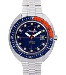 bulova men's oceanographer stainless steel bracelet watch