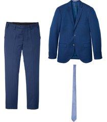 completo (3 pezzi) giacca, pantaloni, cravatta slim fit (blu) - bpc selection