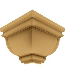 cantoneira rodaforro externa pvc plasbil premium, carvalho - 4 peças