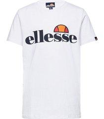 el malia tee jnr t-shirts short-sleeved vit ellesse