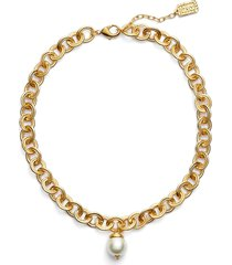 karine sultan short imitation pearl collar necklace in gold at nordstrom