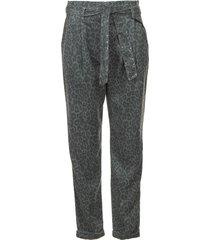 broek met print zilon  grijs