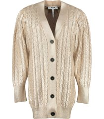 msgm cotton tricot knit cardigan