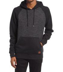 men's billabong balance hoodie, size medium - black