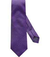 men's eton solid silk tie, size regular - purple