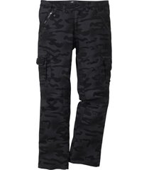 pantaloni cargo baggy fit straight (nero) - rainbow