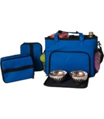 armarkat placemat, overland dog gear week away bag, dog travel bag with food carriers