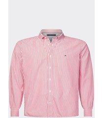 camisa corte slim rojo tommy hilfiger