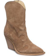 remsy suede shoes boots ankle boots ankle boot - heel brun re:designed est 2003
