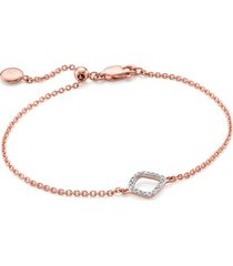 rose gold riva mini kite bracelet diamond