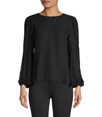 ora silk-blend blouse