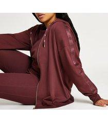 river island womens plus dark pink intimates zip up hoodie