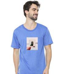 camiseta sandro clothing photograph azul - azul - masculino - dafiti
