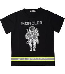moncler black short sleeve t-shirt with astronaut print
