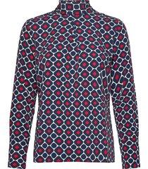 aderyn printed blouse blus långärmad blå morris lady