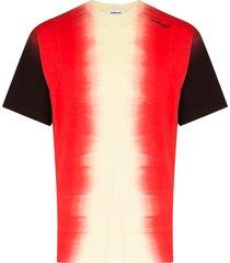 ambush tie-dye panel t-shirt - red