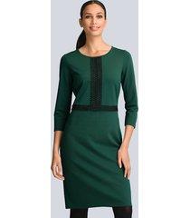 jurk alba moda donkergroen