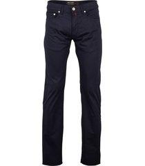 pierre cardin 5-pocket broek lyon donkerblauw