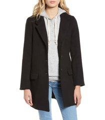 women's bb dakota whiskey business coat, size medium - black