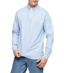 men's topman washed rugby classic fit polo sweatshirt