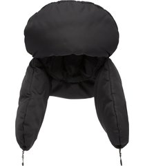 prada padded nylon gabardine hat - black