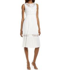women's chelsea28 chiffon midi dress, size large - white