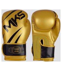 luva de boxe mks new champion iii dourada