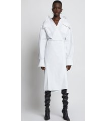 proenza schouler cotton wrapped shirt dress 00100 white 8