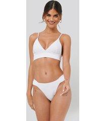 na-kd swimwear gathered bikini panty - white