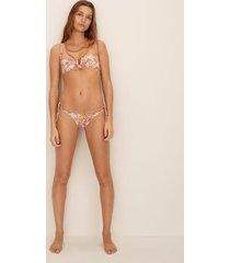 gebloemde bikinitop