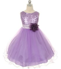 lavender sequined bodice flower girl dresses birthday pageant bridesmaid wedding