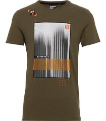 alchemy vision tee t-shirts short-sleeved grön superdry