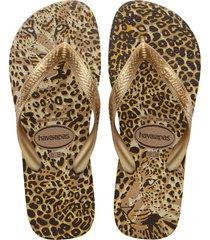 women's havaianas top animals flip flop, size 41/42 - metallic