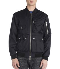 multi pocket bomber jacket