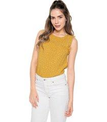 blusa amarillo-blanco esprit