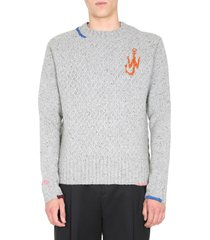 j.w. anderson crew neck sweater