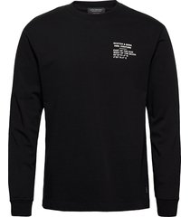 cotton jersey longsleeve artwork tee t-shirts long-sleeved svart scotch & soda