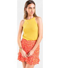 women's alexis sweater tank top in yellow by francesca's - size: l