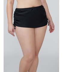 lane bryant women's drawstring swim skirt 28 black