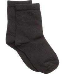 plain cotton socks lingerie socks regular socks svart mp denmark